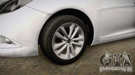 Hyundai Sonata 2013 для GTA San Andreas вид сзади