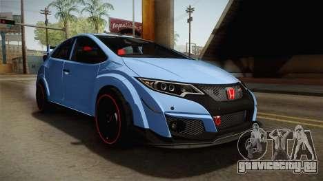 Honda Civic Type R 2015 для GTA San Andreas вид справа