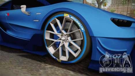 Bugatti Vision GT для GTA San Andreas вид сзади
