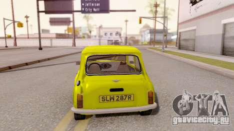 Mini Cooper 1300 Mr Bean для GTA San Andreas вид сзади слева