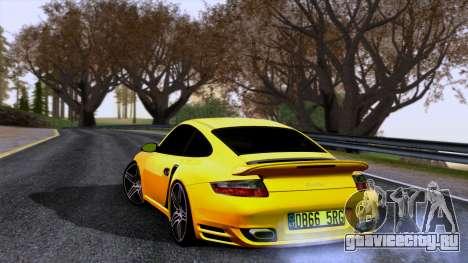 Porsche 911 Turbo 2007 для GTA San Andreas вид слева