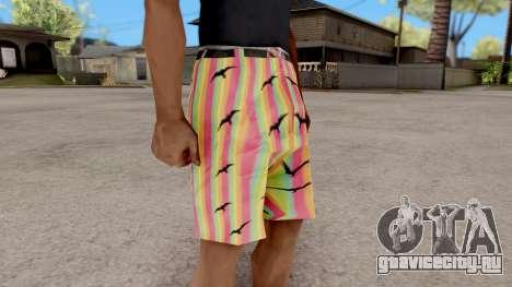 Шорты с чайками для GTA San Andreas второй скриншот
