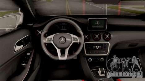 Mercedes Benz A45 AMG 2012 для GTA San Andreas вид изнутри
