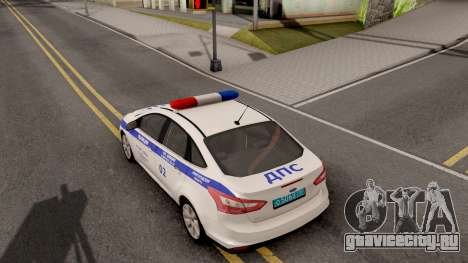 Ford Focus 3 Russisan Police для GTA San Andreas вид сзади