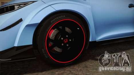 Honda Civic Type R 2015 для GTA San Andreas вид сзади