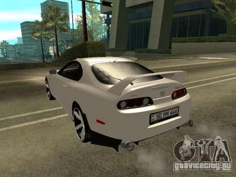 Toyota Supra Armenian для GTA San Andreas вид сзади слева