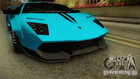 Lamborghini Murcielago LP670-4 SV Liberty Walk для GTA San Andreas вид сбоку