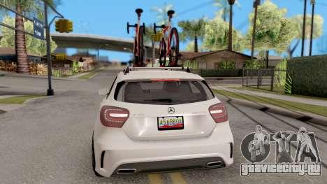 Mercedes Benz A45 AMG 2012 для GTA San Andreas вид сзади слева