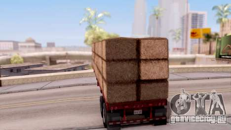 FlatBed Trailer From American Truck Simulator для GTA San Andreas вид слева