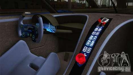 Bugatti Vision GT для GTA San Andreas вид изнутри