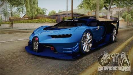 Bugatti Vision GT для GTA San Andreas вид сзади слева