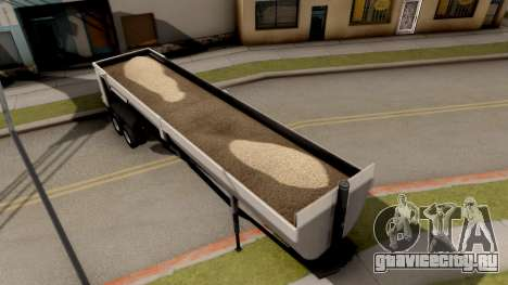 Dump Trailer from American Truck Simulator для GTA San Andreas вид сзади слева