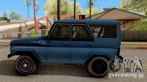 УАЗ Hunter V8 Антигелик AcademeG для GTA San Andreas вид слева