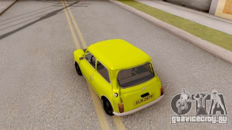Mini Cooper 1300 Mr Bean для GTA San Andreas вид сзади