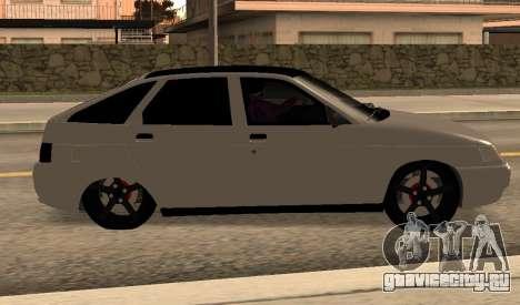 ВАЗ 2112 для GTA San Andreas вид сзади