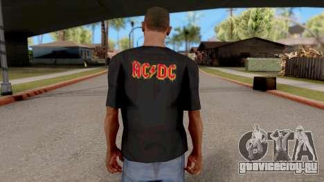Black T-Shirt AC/DC для GTA San Andreas третий скриншот