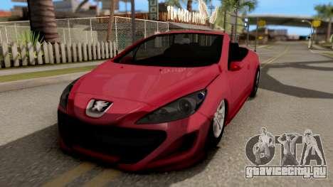 Peugeot 308 CC для GTA San Andreas