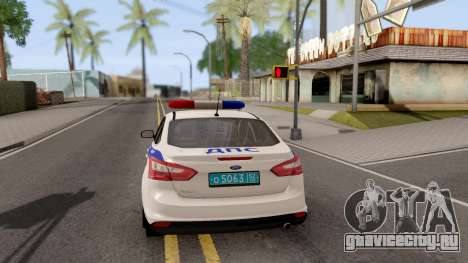 Ford Focus 3 Russisan Police для GTA San Andreas вид сзади слева