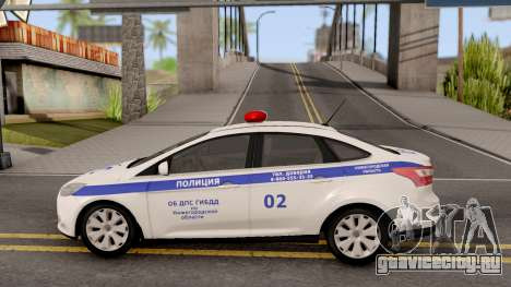 Ford Focus 3 Russisan Police для GTA San Andreas вид слева