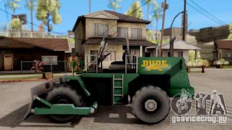 Paintable Dozer для GTA San Andreas вид слева