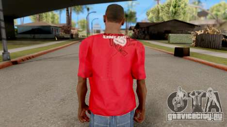 Ecko Unltd T-Shirt Red для GTA San Andreas третий скриншот