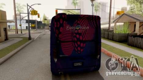 Scania K420 Eurovision 2017 для GTA San Andreas вид сзади слева