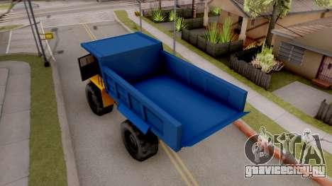 Paintable Dumper для GTA San Andreas вид сзади