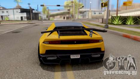 GTA 5 Pegassi Tempesta IVF для GTA San Andreas вид сзади слева