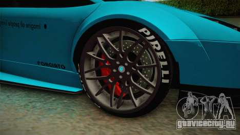 Lamborghini Murcielago LP670-4 SV Liberty Walk для GTA San Andreas вид сзади
