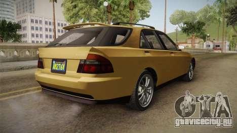 GTA 5 Karin Sultan SW IVF для GTA San Andreas вид сзади слева