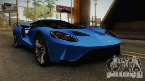 Ford GT 2017 для GTA San Andreas вид справа