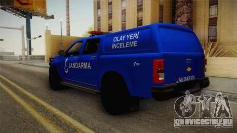 Chevrolet S10 Turkish Gendarmerie CSI Unit для GTA San Andreas вид слева