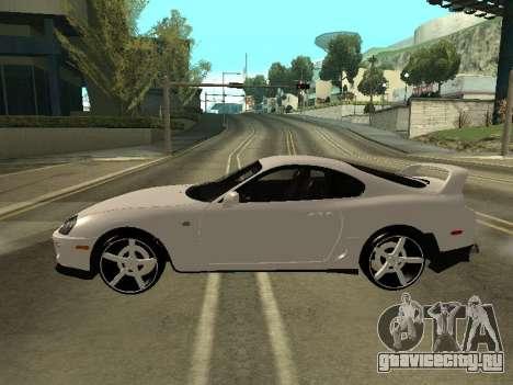 Toyota Supra Armenian для GTA San Andreas вид слева