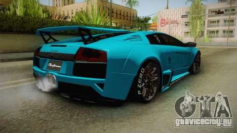 Lamborghini Murcielago LP670-4 SV Liberty Walk для GTA San Andreas вид сзади слева