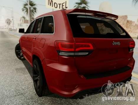 Jeep Grand Cherokee SRT 8 для GTA San Andreas вид справа