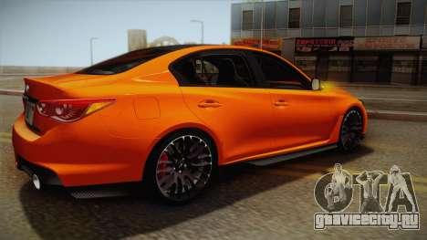 Infiniti Q50 Eau Rouge 2014 для GTA San Andreas вид сверху