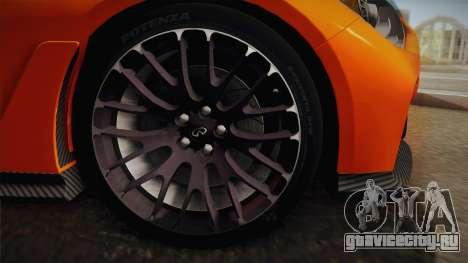 Infiniti Q50 Eau Rouge 2014 для GTA San Andreas вид сзади слева