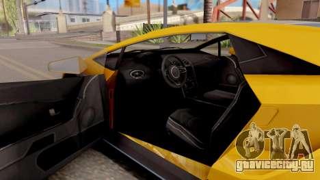 GTA 5 Pegassi Tempesta IVF для GTA San Andreas вид изнутри