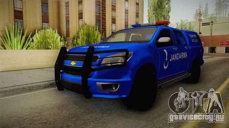Chevrolet S10 Turkish Gendarmerie CSI Unit для GTA San Andreas вид сзади слева