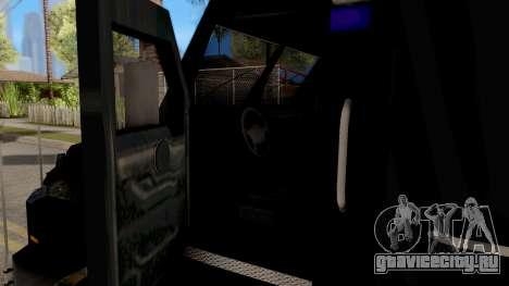 BearCat SWAT Truck для GTA San Andreas вид изнутри