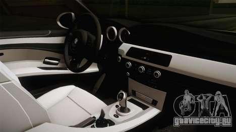 BMW M5 E60 Hungary Police для GTA San Andreas вид изнутри