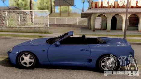Toyota Supra Cabrio для GTA San Andreas вид слева