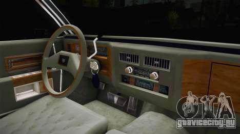 Cadillac Fleetwood Brougham Low Rider 1980 для GTA San Andreas вид изнутри