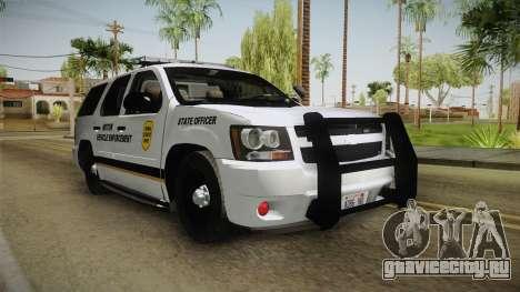 Chevrolet Tahoe 2013 Iowa State MVE для GTA San Andreas вид справа