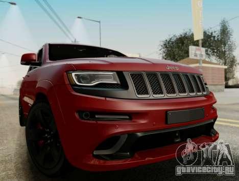 Jeep Grand Cherokee SRT 8 для GTA San Andreas вид сзади слева