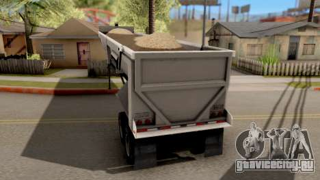 Dump Trailer from American Truck Simulator для GTA San Andreas вид слева
