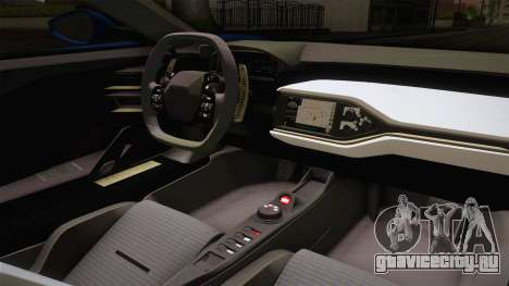 Ford GT 2017 для GTA San Andreas вид изнутри