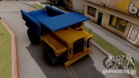 Paintable Dumper для GTA San Andreas вид справа