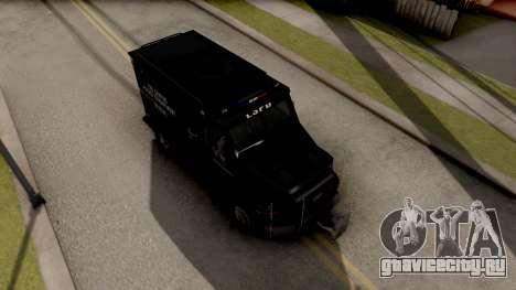 BearCat SWAT Truck для GTA San Andreas вид справа