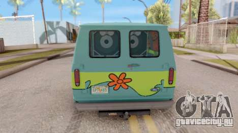 Ford Econoline 150 Scooby-Doo Mystery Machine для GTA San Andreas вид сзади слева